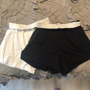 Black and white soffe shorts